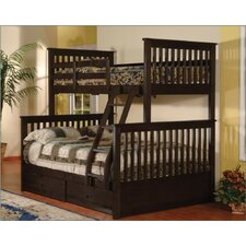Twin Over Full Bunk Bed with 2 Storage Drawers