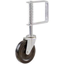 "Spring Loaded 4"" Hard Rubber Wheel"