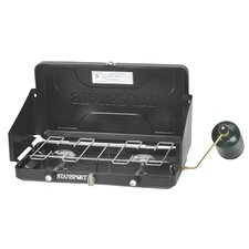 2-Burner Regulated Propane Camp Stove