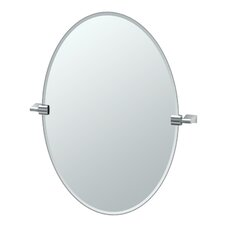 Bleu Oval Mirror