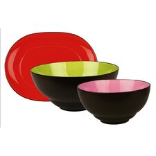 Duo 3 Piece Hostess Serving Tray Set