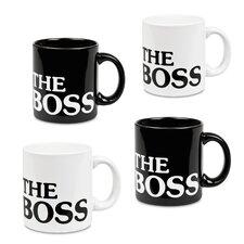 """Fun Factory """"The Boss"""" Mug (Set of 4)"""