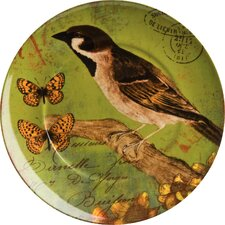 "Accents Nature 8"" Bird Plate (Set of 4)"