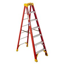 7 ft Fiberglass Limit Step Ladder with 300 lb. Load Capacity
