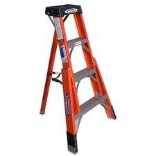 4 ft Fiberglass Tripod Step Ladder with 300 lb. Load Capacity