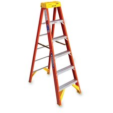 6 ft Fiberglass OE Step Ladder with 300 lb. Load Capacity