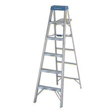 6 ft Aluminum Step Ladder with 225 lb. Load Capacity