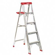 5 ft Aluminum Step Ladder with 225 lb. Load Capacity