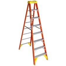 8 ft Fiberglass Step Ladder with 300 lb. Load Capacity