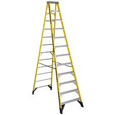 12 ft Fiberglass Step Ladder with 375 lb. Load Capacity