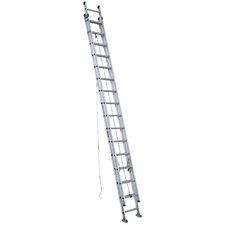 32 ft Aluminum Extension Ladder with 300 lb. Load Capacity