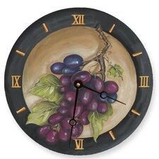 """18"""" Vinyard Grape Wall Clock"""