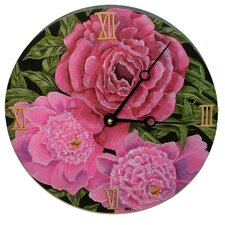 "Home and Garden 10"" Peonies Wall Clock"