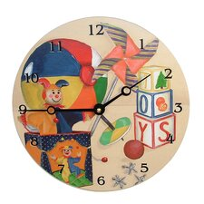 "Children and Baby 18"" Toys Wall Clock"