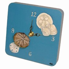 Travel and Leisure Seashells Tiny Times Clock
