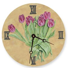 "18"" Tulips Wall Clock"