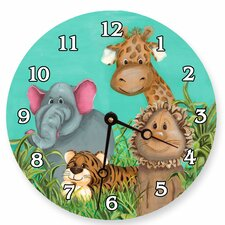 "Animals 10"" Zoo Wall Clock"