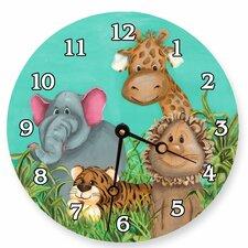 "Animals 18"" Zoo Wall Clock"