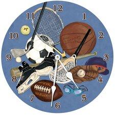"Sports 10"" Little Athlete Wall Clock"