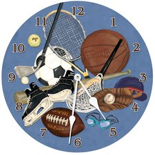 "Sports 18"" Little Athlete Wall Clock"
