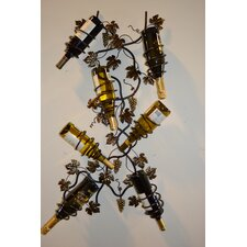 7 Bottle Wall Mount Wine Rack