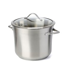 Contemporary Stainless Steel Stock Pot with Lid