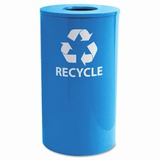Ex-Cell Round Indoor-Outdoor 33-Gal Industrial Recycling Bin