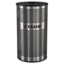 33-Gal Stainless Steel Trash Receptacle