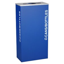 Kaleidoscope XL Series 17-Gal Indoor Industrial Recycling Bin