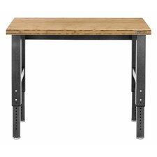 Adjustable Height Bamboo Top Workbench