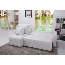Aspen Convertible Sectional Storage Sofa Bed