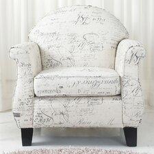 Fresno Vintage Print Arm Chair