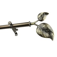 Modern Ivy Single Curtain Rod and Hardware Set