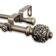 Tilly Double Curtain Rod and Hardware Set