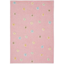 Carousel Pink Dots Area Rug