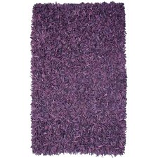 Pelle Leather Purple Area Rug