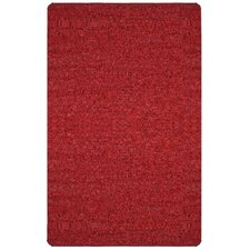 Pelle Short Leather Red Area Rug