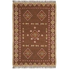 Hacienda Brown/Tan Southwestern Area Rug