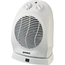 1,500 Watt Portable Electric Fan Compact Heater with Thermostat