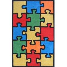 Kiddie Jigsaw Puzzle Area Rug