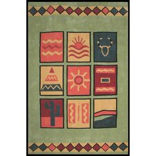 Bright Lime Sizzle Area Rug