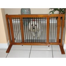 Freestanding Wood & Wire Pet Gate
