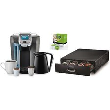 2.0 K550 Brewing System with Under Brewer Storage Drawer and Mountain Breakfast Blend K-Cups