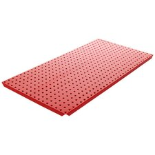 Powder Coated Metal Pegboard Panels with Flange in Red