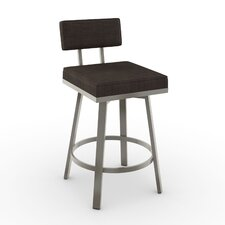 "New York Style 26"" Swivel Bar Stool with Cushion"