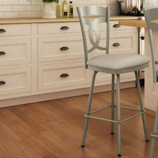 "Countryside Style 31.63"" Swivel Bar Stool with Cushion"