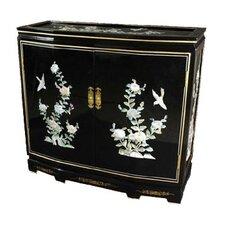 Asian Floral Design Slant Front Cabinet