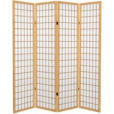 "71"" x 63"" Window Pane 4 Panel Room Divider"