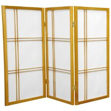 "35.75"" Double Cross Shoji Screen 3 Panel Room Divider"