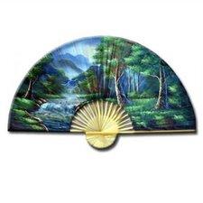 Asian Forest Oriental Fan Wall Décor